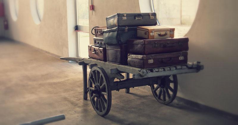 Valigie vintage al Museo Ferroviario della Puglia.