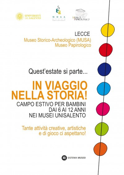 Locandina Campo estivo Musa e Museo Papirologico