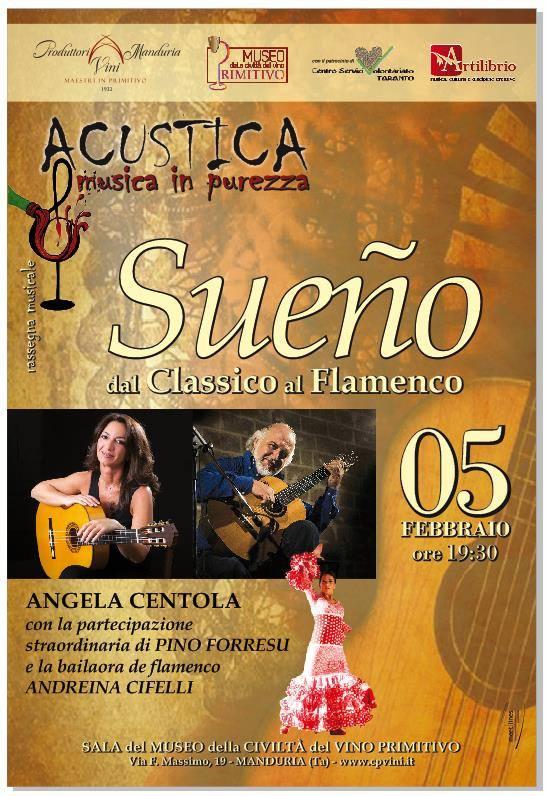 Locandina concerto Angela Centola ad Acustica, Musica in purezza