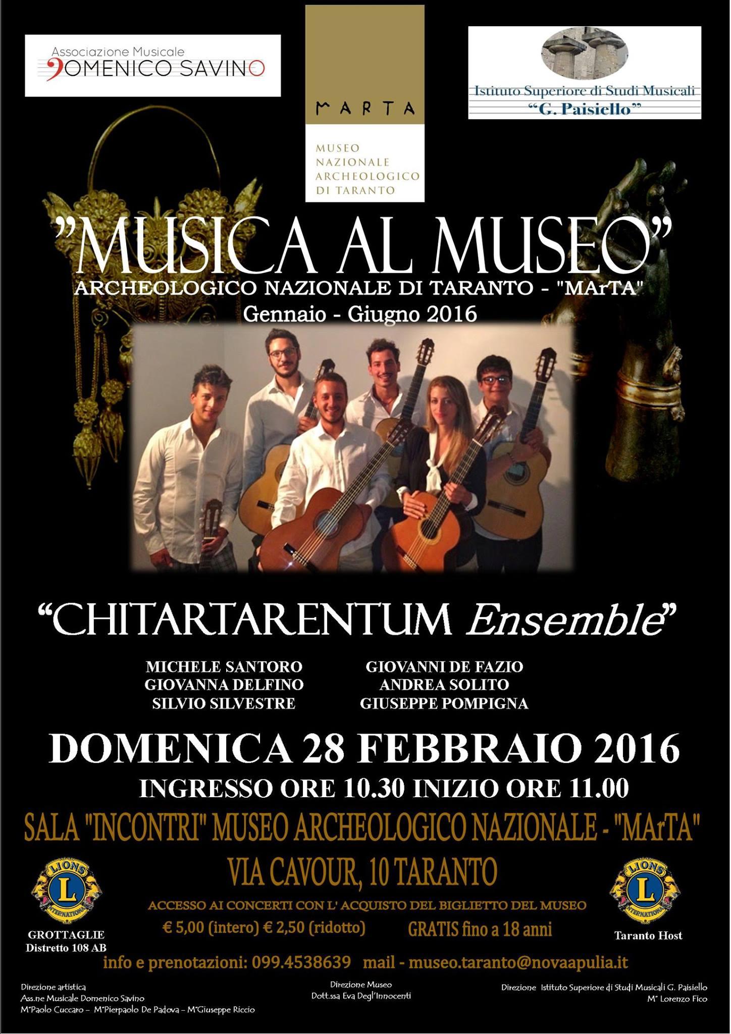 Musica al museo marta di taranto