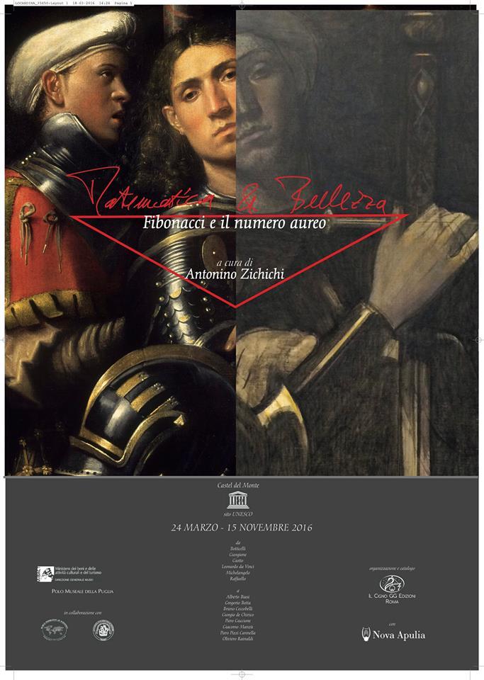 """Locandina mostra """"matematica e Bellezza"""", Castel del Monte"""