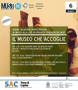 """""""Il Museo che Accoglie. Azione, relazione e partecipazione al MUST"""""""