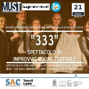"""""""333"""" Spettacolo di Improvvisazione Teatrale"""