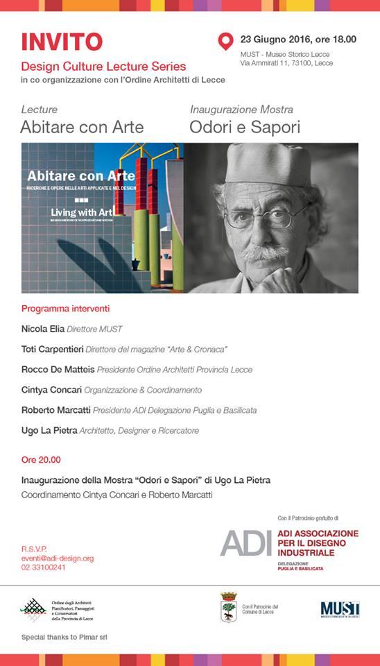 """Ugo La Pietra """"ABITARE CON ARTE – Ricerche e opere nelle arti applicate e nel design""""."""