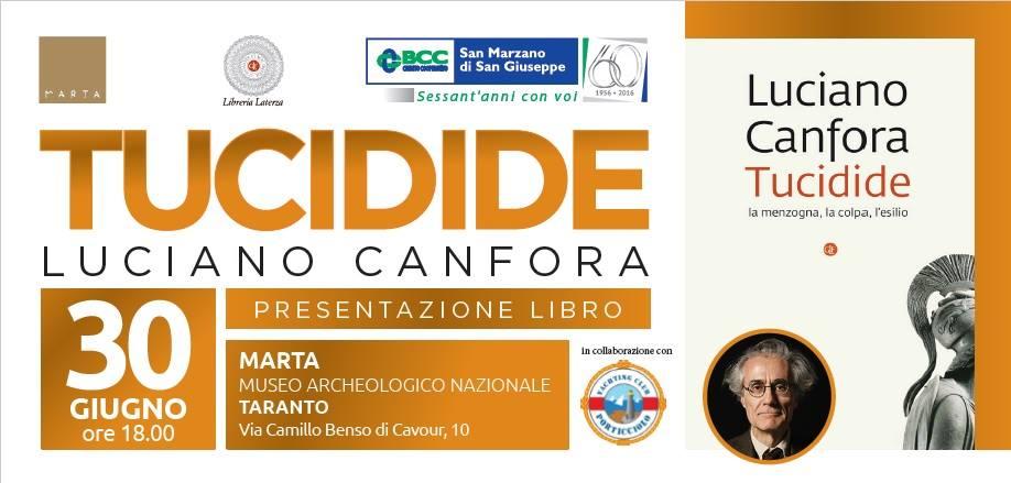 """""""Luciano Canfora presenta Tucidide"""""""