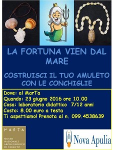 """""""La Fortuna vien dal Mare – Realizza il tuo Amuleto"""""""