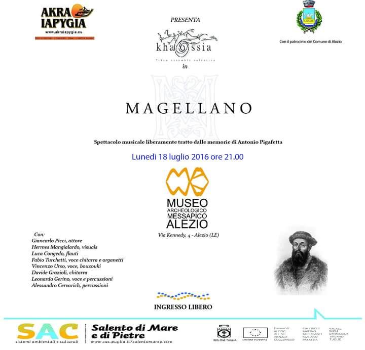 """""""Magellano"""": spettacolo musicale al Museo Civico Messapico di Alezio"""